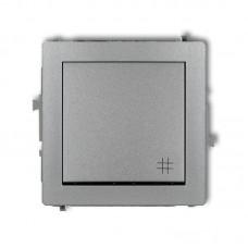 1-клавішний вимикач перехресний Karlik Deco сріблястий металлік 7DWP-6