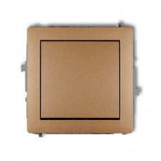 1-клавішний вимикач Karlik Deco золотистий металлік 8DWP-1