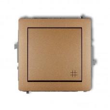 1-клавішний вимикач перехресний Karlik Deco золотистий металлік 8DWP-6