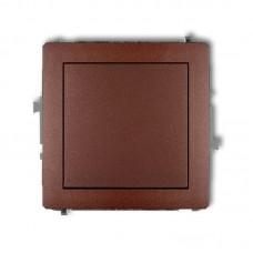1-клавішний вимикач Karlik Deco коричневий металлік 9DWP-1