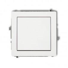 1-клавішний вимикач Karlik Deco білий DWP-1