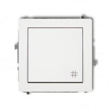 1-клавішний вимикач перехресний Karlik Deco білий DWP-6