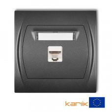 Розетка ком'ютерна Karlik Logo RJ45, cat 5E графітова 11LGK-1