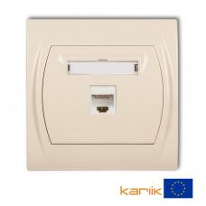 Розетка ком'ютерна Karlik Logo RJ45, cat 5E бежева 1LGK-1