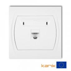 Розетка ком'ютерна Karlik Logo RJ45, cat 5E біла LGK-1