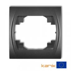 Рамка одинарна Karlik Logo графітова 11LRH-1