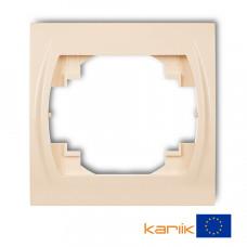 Рамка одинарна Karlik Logo бежева 1LRH-1