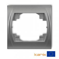 """Рамка одинарна Karlik Logo """"сріблястий металлік"""" 7LRH-1"""