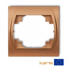 """Рамка одинарна Karlik Logo """"золотистий металлік"""" 8LRH-1"""