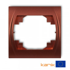 """Рамка одинарна Karlik Logo """"коричневий металлік"""" 9LRH-1"""