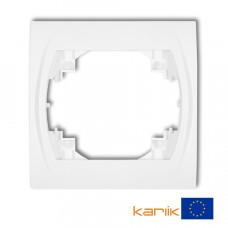 Рамка одинарна Karlik Logo біла LRH-1