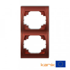 """Рамка подвійна вертикальна Karlik Logo """"коричневий металлік"""" 9LRV-2"""