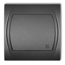 1-клавішний вимикач перехресний Karlik Logo графітовий 11LWP-6