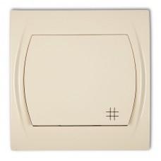 1-клавішний вимикач перехресний Karlik Logo бежевий 1LWP-6