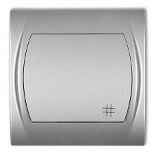 1-клавішний вимикач перехресний Karlik Logo сріблястий металлік 7LWP-6
