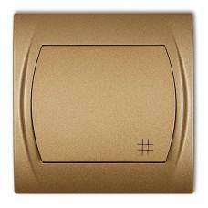 1-клавішний вимикач перехресний Karlik Logo золотистий металлік 8LWP-6