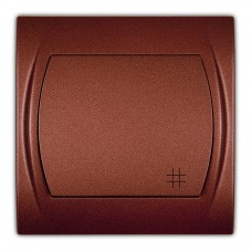 1-клавішний вимикач перехресний Karlik Logo коричневий металлік 9LWP-6