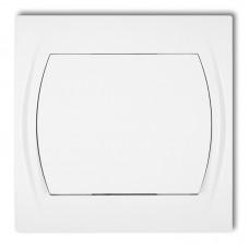 1-клавішний вимикач прохідний Karlik Logo білий LWP-3.1 (без піктограми)