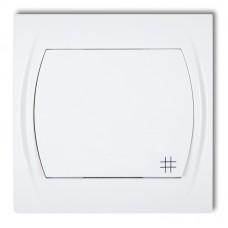 1-клавішний вимикач перехресний Karlik Logo білий LWP-6
