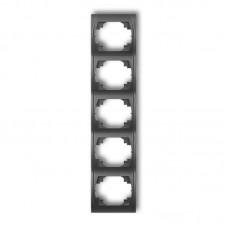 Рамка п'ятірна вертикальна Karlik Logo графітова 11LRV-5