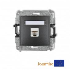 Розетка ком'ютерна Karlik Mini RJ45, cat 5E графітова 11MGK-1