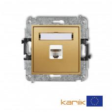 Розетка ком'ютерна Karlik Mini RJ45, cat 5E золота 29MGK-1