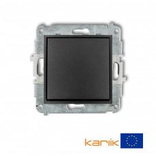 1-клавішний вимикач Karlik Mini графітовий 11MWP-1