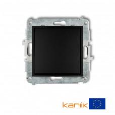 1-клавішний вимикач Karlik Mini чорний матовий 12MWP-1