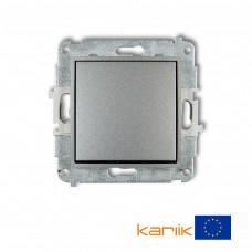 1-клавішний вимикач Karlik Mini сріблястий металлік 7MWP-1