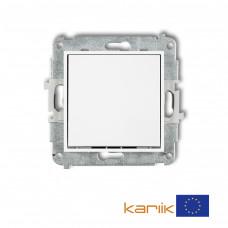 1-клавішний вимикач Karlik Mini білий MWP-1