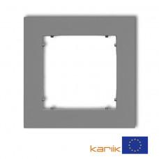 Рамка одинарна універсальна Karlik Mini сіра матова 27MR-1