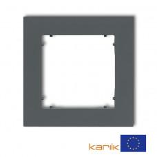 Рамка одинарна універсальна Karlik Mini графітова матова 28MR-1
