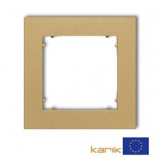 Рамка одинарна універсальна Karlik Mini золота 29MR-1
