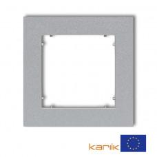 """Рамка одинарна універсальна Karlik Mini """"сріблястий металлік"""" 7MR-1"""