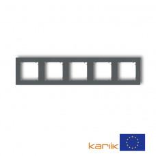 Рамка п'ятірна універсальна Karlik Mini графітова матова 28MR-5