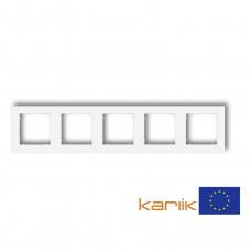 Рамка п'ятірна універсальна Karlik Mini біла MR-5