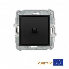 1-клавішний вимикач Karlik Mini чорний матовий 12MWPUS-1