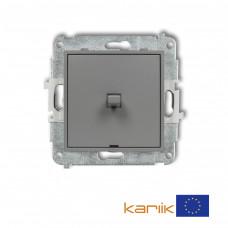 1-клавішний вимикач Karlik Mini сірий матовий 27MWPUS-1