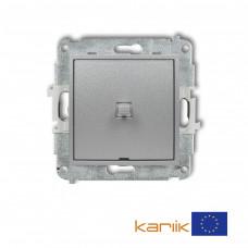 1-клавішний вимикач Karlik Mini сріблястий металлік 7MWPUS-1