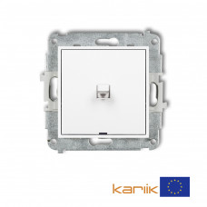 1-клавішний вимикач Karlik Mini білий MWPUS-1
