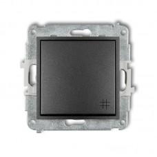 1-клавішний вимикач перехресний Karlik Mini графітовий 11MWP-6