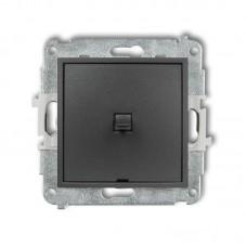 1-клавішний вимикач Karlik Mini графітовий 11MWPUS-1