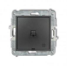 1-клавішний вимикач перехресний Karlik Mini графітовий 11MWPUS-6
