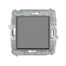 1-клавішний вимикач Karlik Mini сірий матовий 27MWP-1