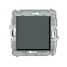 1-клавішний вимикач Karlik Mini графітовий матовий 28MWP-1