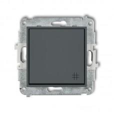 1-клавішний вимикач перехресний Karlik Mini графітовий матовий 28MWP-6