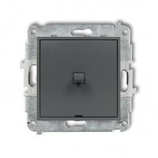 1-клавішний вимикач Karlik Mini графітовий матовий 28MWPUS-1