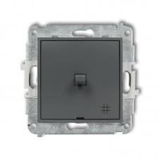 1-клавішний вимикач перехресний Karlik Mini графітовий матовий 28MWPUS-6