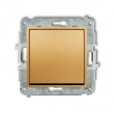 1-клавішний вимикач Karlik Mini золотий 29MWP-1