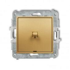 1-клавішний вимикач Karlik Mini золотий 29MWPUS-1